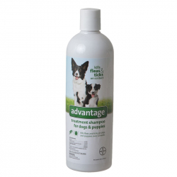 Advantage Flea and Tick Treatment Shampoo for Dogs and Puppies Image