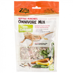 Zilla Reptile Munchies - Omnivore Mix with Calcium Image