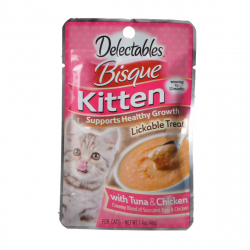 Hartz Delectables Bisque Kitten Treat - Tuna & Chicken Image
