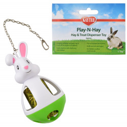 Kaytee Play-N-Hay Hay & Treat Dispenser Rabbit Toy Image