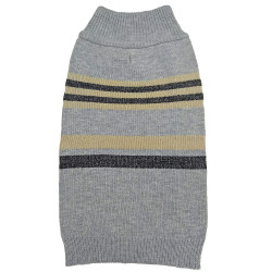 Fashion Pet Shimmer Stripes Dog Sweater - Gray Image