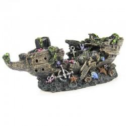Split Shipwreck Aquarium Ornament Image