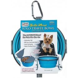 Loving Pets Bella Roma Blue Travel Bowl Image
