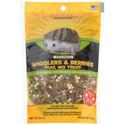 Sunseed Vita Prima Wigglers & Berries Trail Mix Hedgehog Treat Image