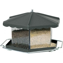 Homestead Triple Bin Seed Feeder Bronze Image