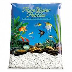 Pure Water Pebbles Aquarium Gravel - Platinum White Frost Image