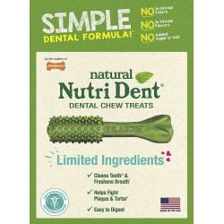Nylabone Nutri Dent Natural Fresh Breath Dental Chew Treats - Large Image