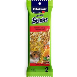 Vitakraft Crunch Sticks Hamster Treat - Peanut & Honey Flavored Glaze Image