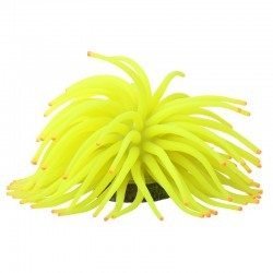 GloFish Anemone Aquarium Ornament - Yellow Image