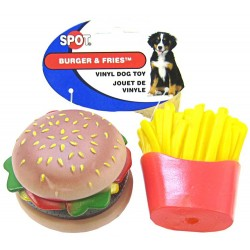 Spot Burger & Fries Vinyl Toy for Dogs Image