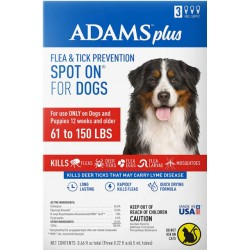 Adams Flea And Tick Prevention Spot On For Dogs 61 -150 lbs X-Large 3 Month Supply  Image