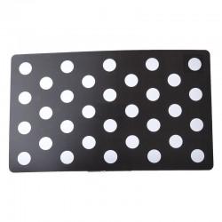 Petmate Plastic Food Mat - Black & White Dots Image