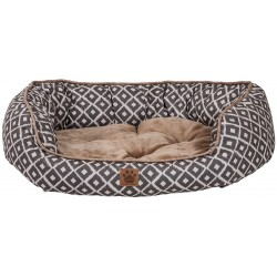 Precision Pet Ikat Snoozzy Daydream Pet Bed Gray Image
