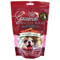 Loving Pets Gourmet Biscuit Wraps Dog Treats - Chicken with Sweet Potato Biscuit Image