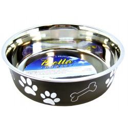 Loving Pets Bella Bowl with Rubber Base - Classic Espresso Image