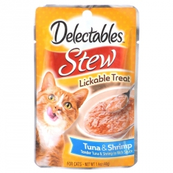 Hartz Delectables Stew Lickable Treat for Cats - Tuna & Shrimp Image