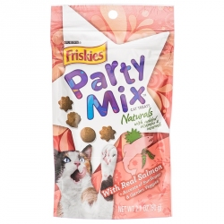Friskies Party Mix Naturals Cat Treats - Real Salmon Image
