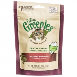 Feline Greenies Dental Treats for Cats - Succulent Beef Flavor Image