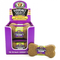 Natures Animals Gourmet Select All Natural Dog Biscuit - Made With Organic Grains, Vegetables & Herbs - Peanut Butter & Carob Image