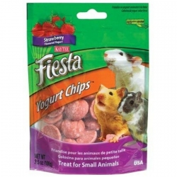 Kaytee Fiesta Yogurt Chips for Small Animals - Strawberry Image