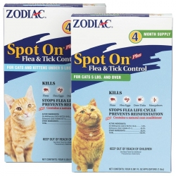 Zodiac Spot On Plus Flea & Tick Control for Cats & Kittens Image