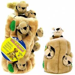 Plush Puppies Hide-A-Squirrel Dog Toy Image