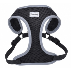 Coastal Pet Comfort Soft Reflective Wrap Adjustable Dog Harness - Black Image