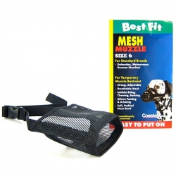 Coastal Pet Best Fit Mesh Muzzle - Black Image