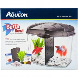 Aqueon Betta Bowl Starter Aquarium Kit - Black Image