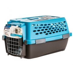Petmate Vari Kennel Ultra - Breeze Blue/Coffee Brown Image