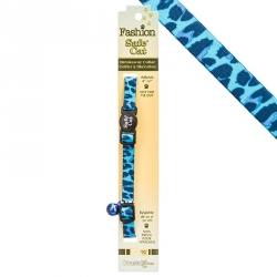 Safe Cat Adjustable Breakaway Cat Collar - Blue Leopard Image