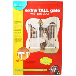 Carlson Extra Tall Walk Thru Gate with Pet Door Image