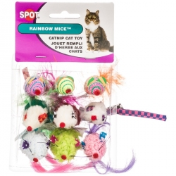 Spot Rainbow Mice Catnip Cat Toy Image