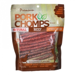 Premium Pork Chomps Assorted Munchy Sticks 50 Pack - (Assorted Flavors) Image