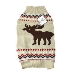 Outdoor Dog Moose Sweater - Cream Image