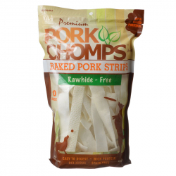 Premium Pork Chomps Baked Pork Strips 10 oz Image