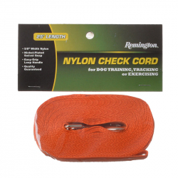 Remington Nylon Dog Check Cord - Safety Orange Image