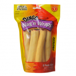 Dingo Wag'n Wraps Chicken & Rawhide Chews (No China Sourced Ingredients) Slims - 8 Pack - (5