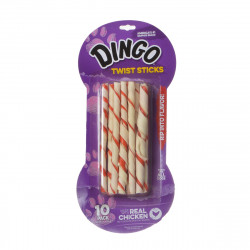 Dingo Twist Sticks Rawhide Chew with Chicken in the Middle Image