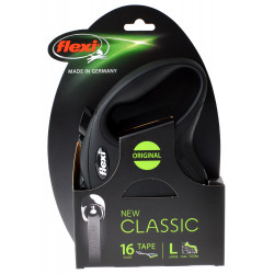 Flexi New Classic Retractable Tape Leash - Black - Large Image