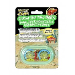 Zoo Med Hermit Crab Home Dual Thermometer and Humidity Gauge Glow in the Dark Image