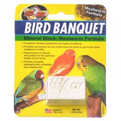 Zoo Med Bird Banquet Mineral Block - Mealworm Formula Image