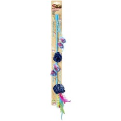 Spot Butterfly and Mylar Teaser Wand Cat Toy - Assorted Colors Image