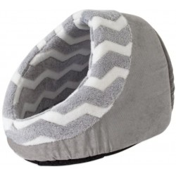 Precision Pet Snoozz ZigZag Hide And Seek Pet Bed Gray And White  Image
