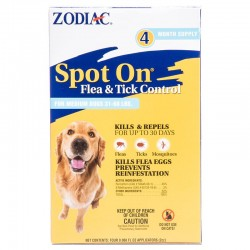 Zodiac Spot On Flea & Tick Control for Dogs - (4 Month Supply) Image