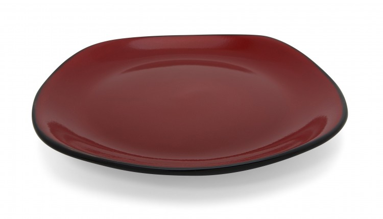 Hell's Kitchen Dinner Plates (Set of 4) - Black/Red alternate img #1