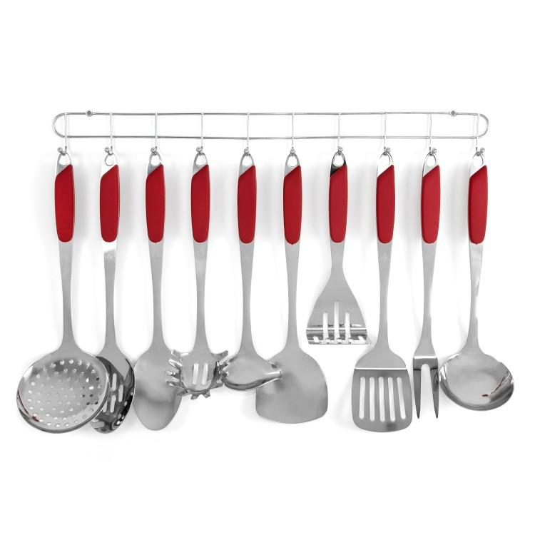 10 Pc. Kitchen Tool Set - Red alternate img #2