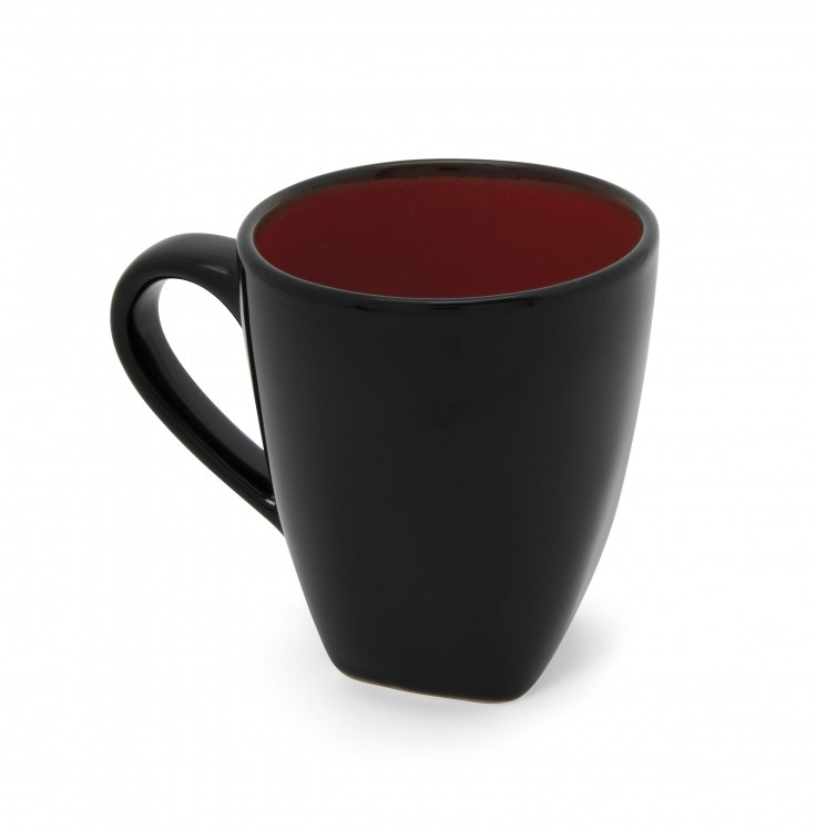 Hell's Kitchen Mugs (Set of 4) - Black/Red alternate img #1