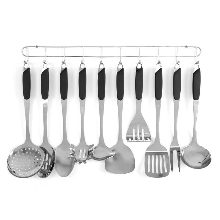 10 Pc. Kitchen Tool Set - Black alternate img #2