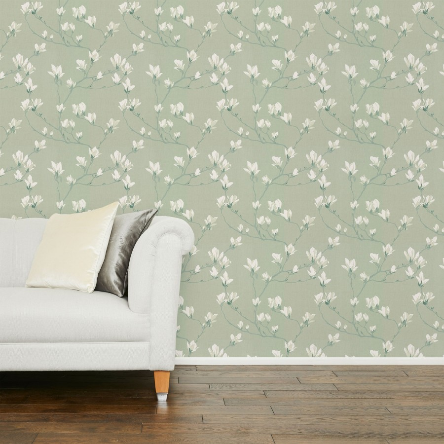 Magnolia Grove Hedgerow Wallpaper
